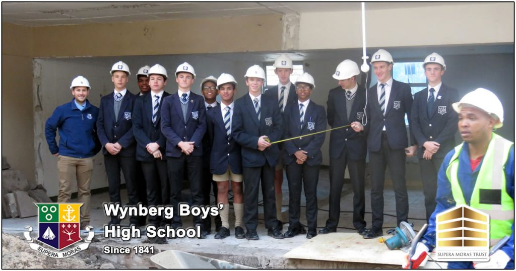 Wynberg Boys' High School Pupils visiting the building site of the new Engineering and Design Facult