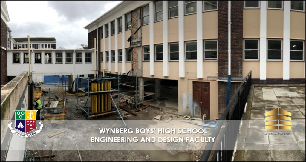 Building work at Wynberg Boys' High School Engineering and Design Faculty