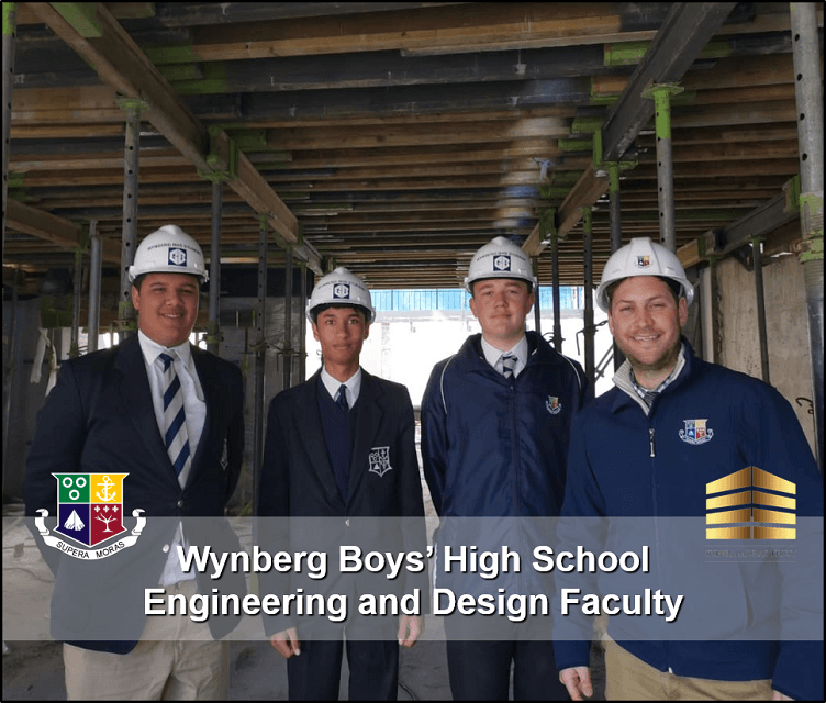 Mr Stefan Pretorius (Far Right) pictured with Grade 9's considering Engineering as a subject next year.