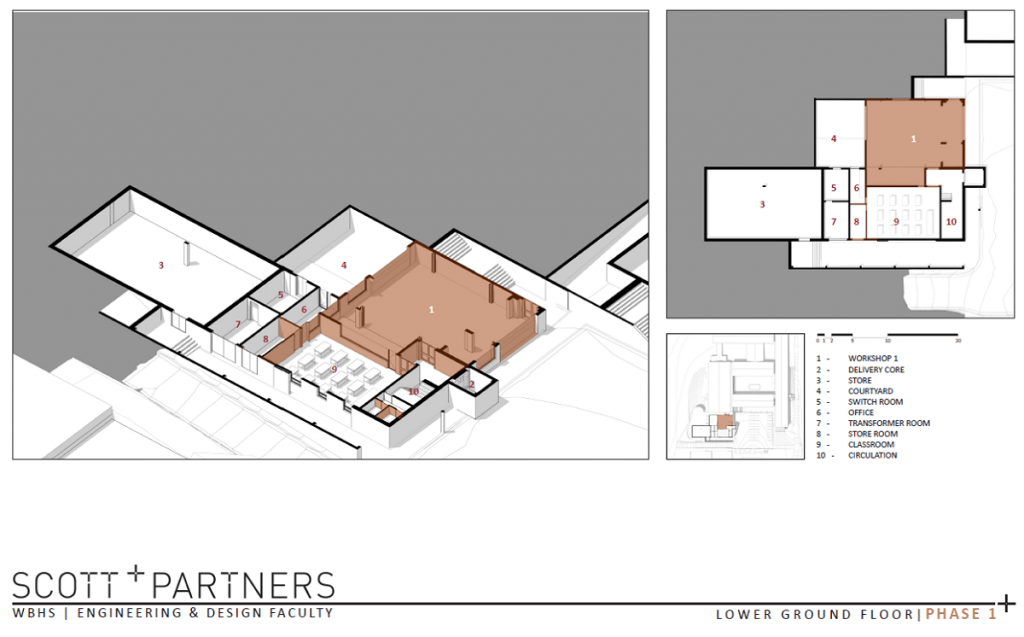 Plans of the Lower Ground of Wynberg's new Engineering and Design Faculty